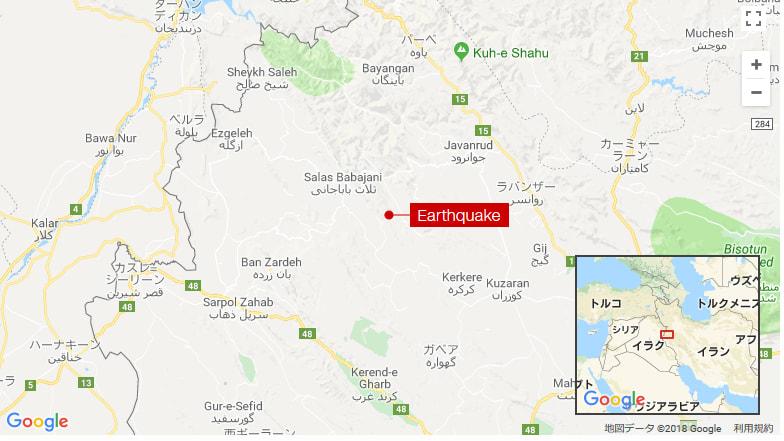 イラン西部でM6.0の地震、2人死...