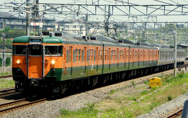 113系湘南色+JR西日本カラー