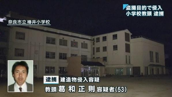 葛和正則:奈良市立椿井小学校教...
