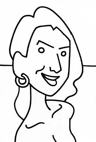 橋本マナミ似顔絵画像