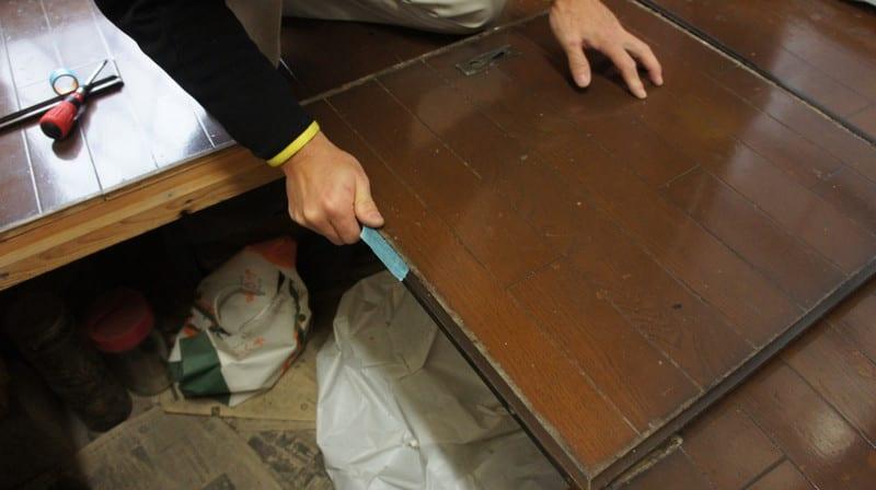 キッチン床下点検口の工事