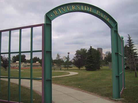 この公園はダウンタウンから徒歩で20分ほどの所にある。愛犬が生きていた頃は良く散歩に連れて行ったところ。