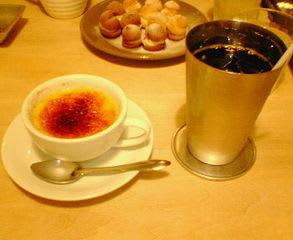 クレームブリュレ&アイスコーヒー