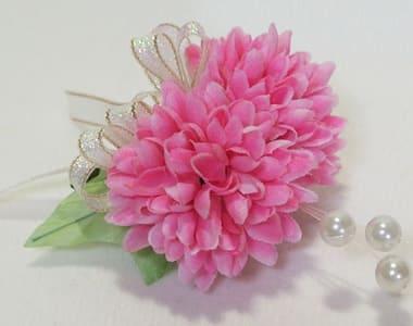 ピンク ボールマム 造花 卒業 卒園コサージュ