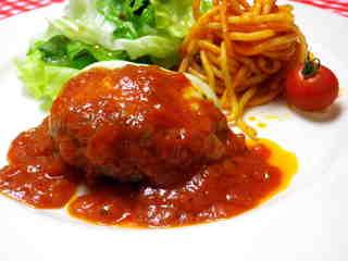 トマト ソース ハンバーグ