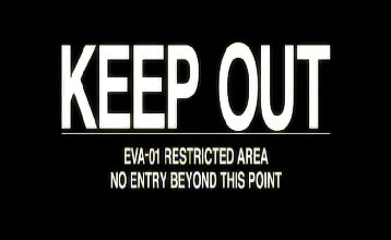 EVA-01 RESTRICTED AREA NO ENTRY BEYOND THIS POINT