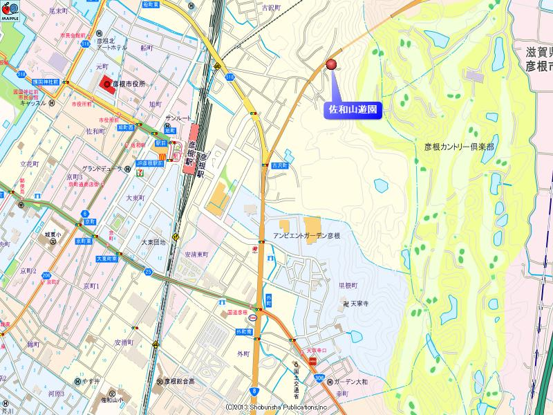佐和山遊園の地図