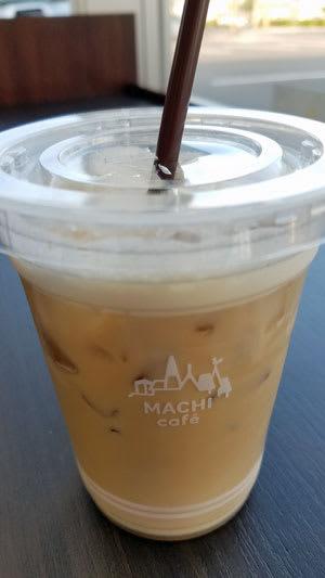 モバイルdポイントカードをかざしID決済で購入したマチカフェ アイスカフェラテ