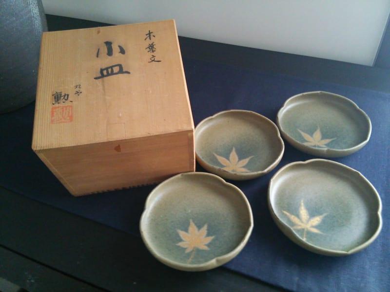 木葉文小皿