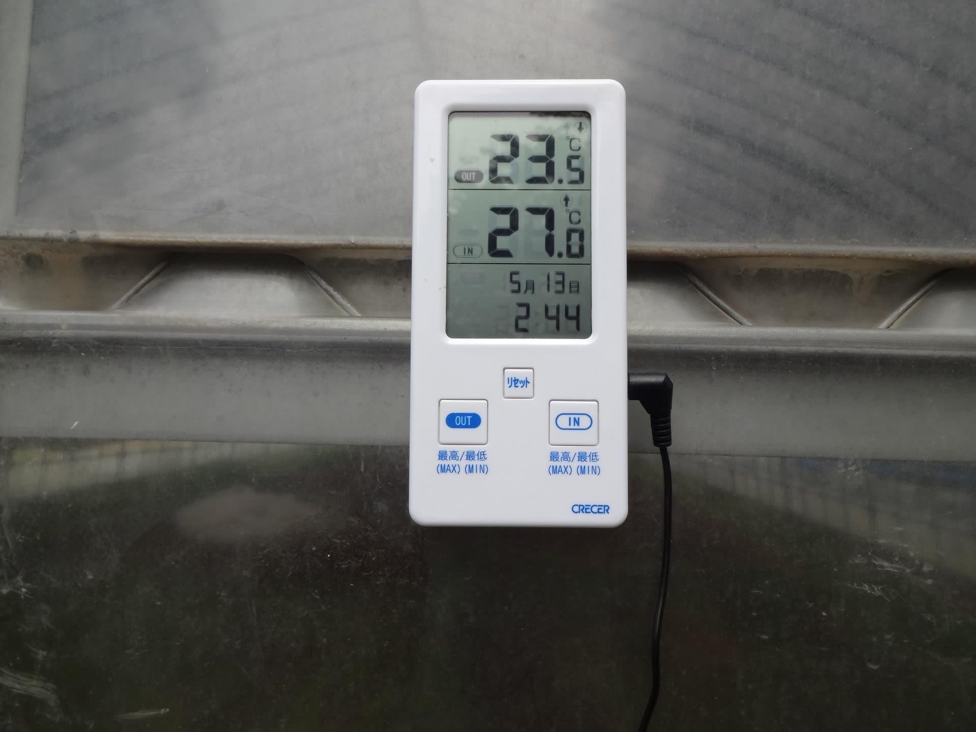育苗ハウスの温度データはスマホで