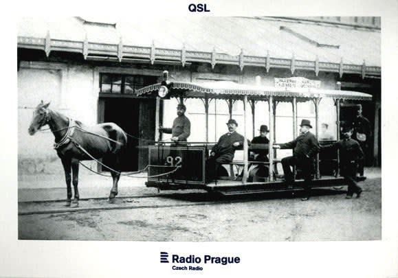 ラジオ・プラハ ベリカード 馬車...