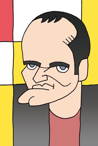 クエンティン・タランティーノの似顔絵