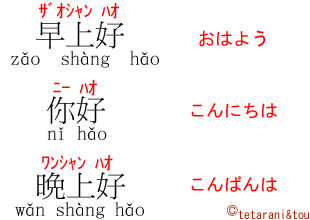 中国 語 こんばんは