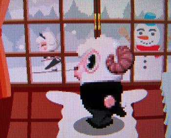 2010年冬ver.のひつじの執事室の雪だるま