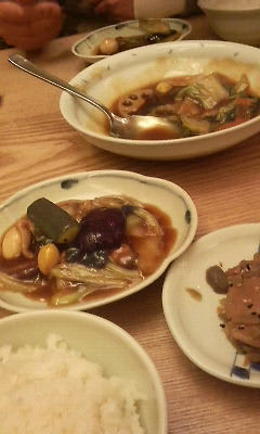 夕飯は中華