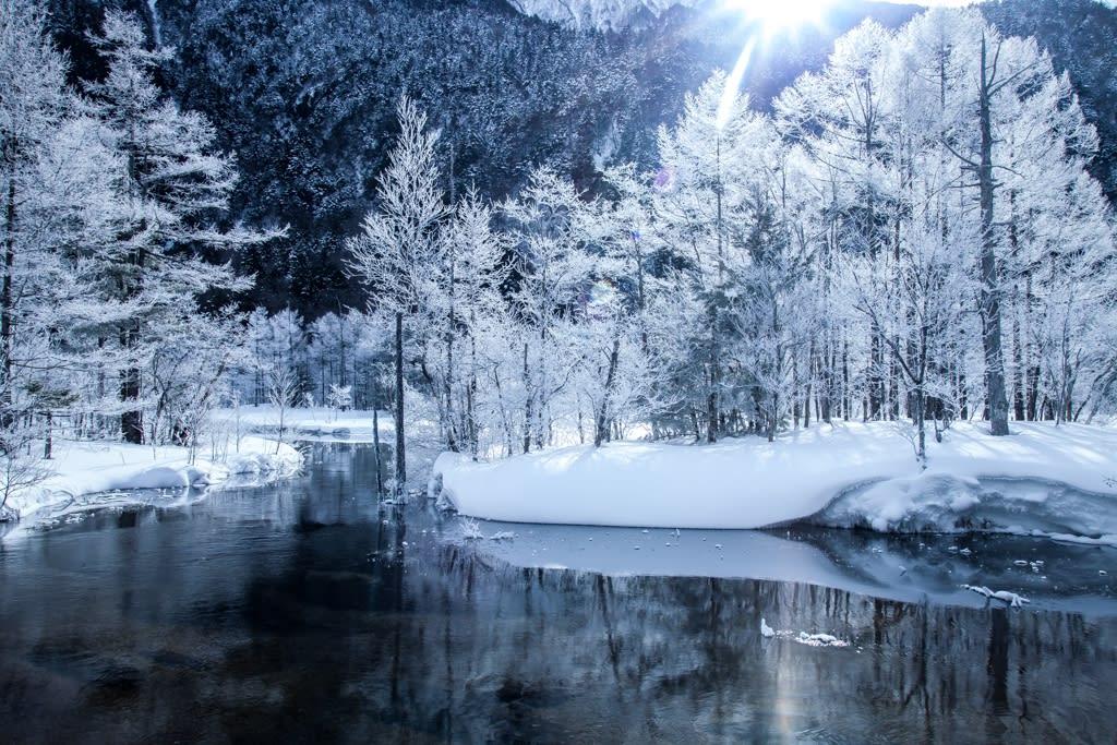 田代池の霧氷