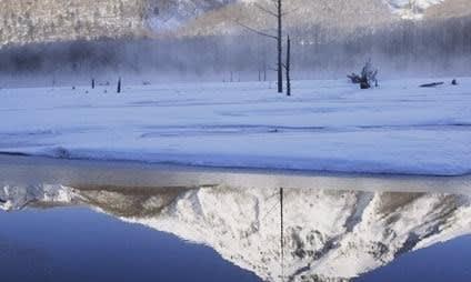 遠い山の 凍てついた淡い夢