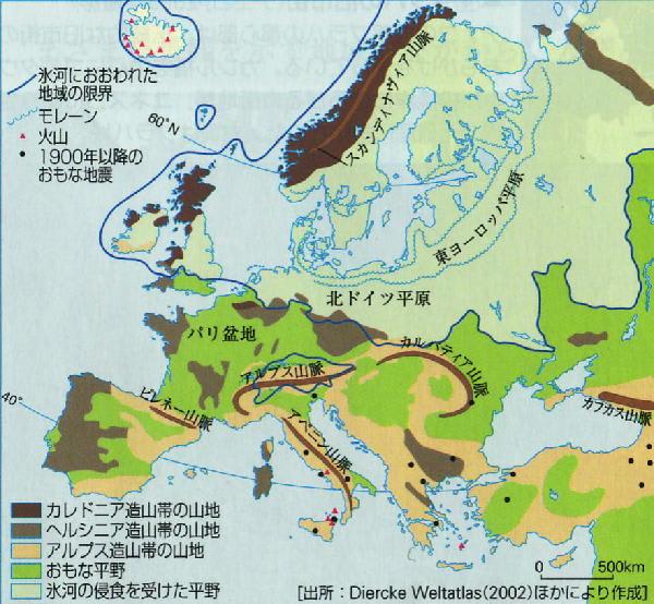 ヨーロッパ 地形