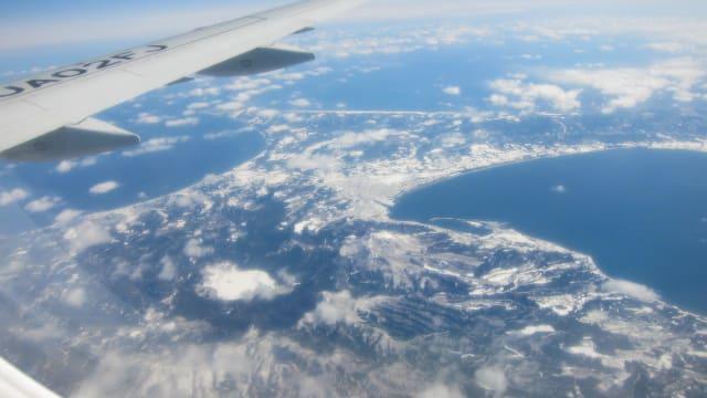 上空一万メートルから、下北半島は - ねもばーばのはっぴーらいふ