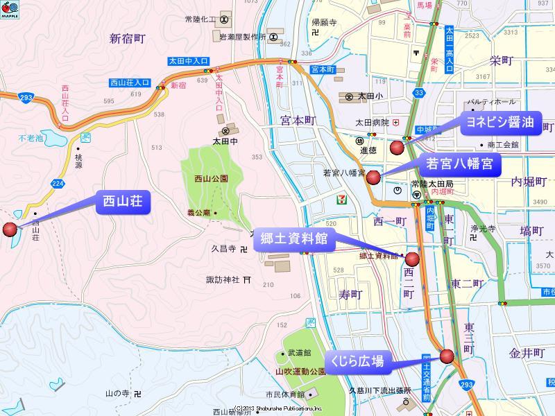 若宮八幡宮付近の地図