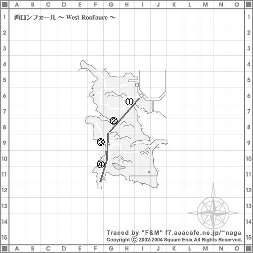 西ロンフォール地図