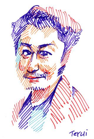 安田顕似顔絵イラスト画像