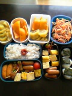お弁当二人分@子供たちの今日のお昼