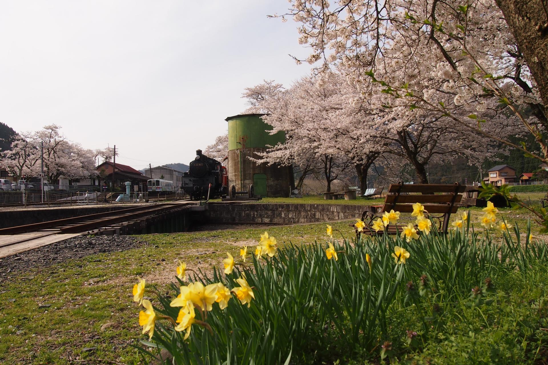 若桜町のSL - 不動院岩屋堂