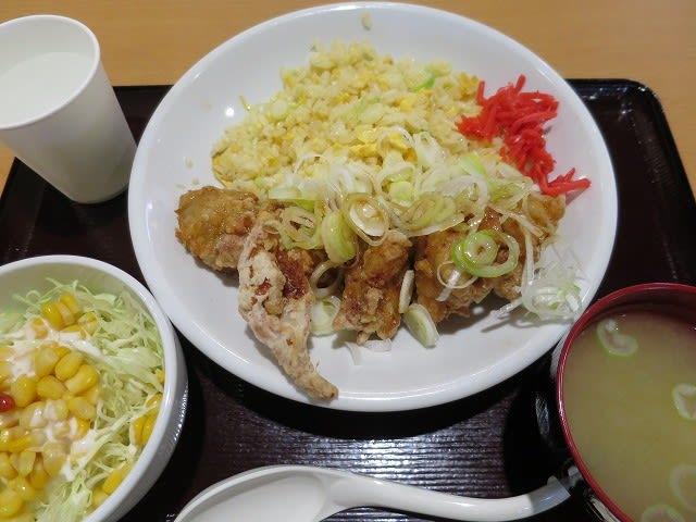 油淋鶏チャーハンサラダセット