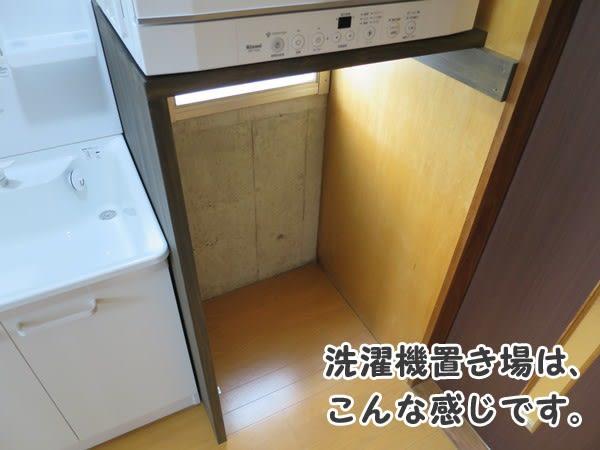 ガス衣類乾燥機_棚下の洗濯機エリア