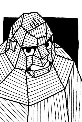 アブドーラ・ザ・ブッチャーの似顔絵