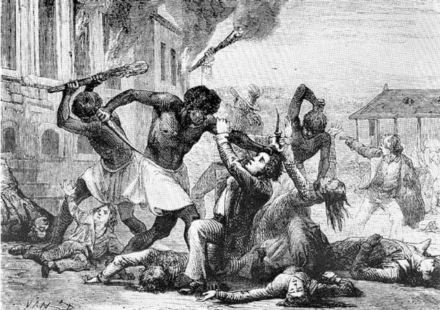 黒人奴隷集団がストーノで武器を...