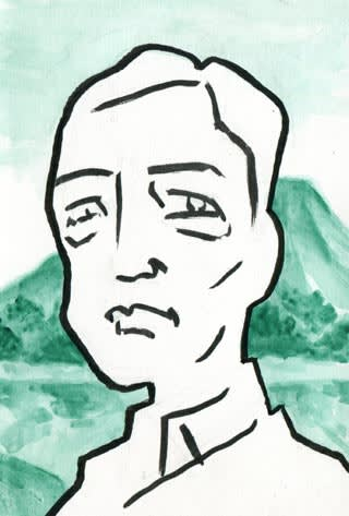 榎木孝明氏似顔絵画像