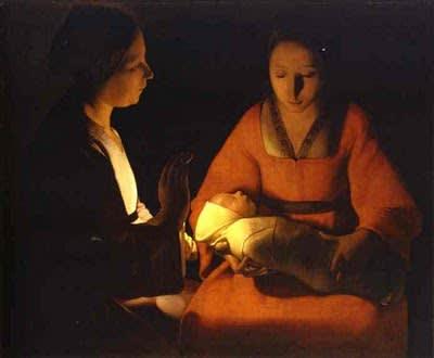 ジョルジュ・ド・ラ・トゥール【'The Newborn'. ca. 1645 】