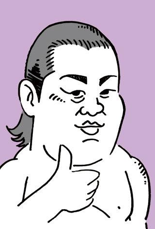 遠藤の似顔絵