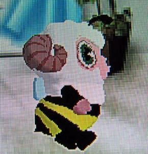 BeeTVコース修了のひつじのしつじくん