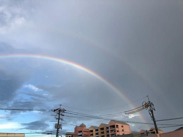 岡山市で撮影したWレインボーの写真です。 | 岡山で月々三万円で新築一戸建てを建てるならサン・ブランドハウス