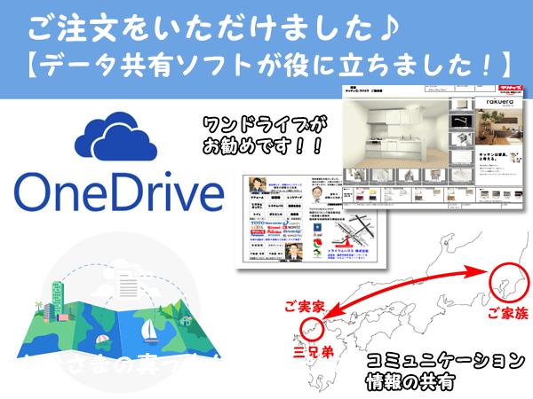 データ共有ソフトが約に立ちました。ワンドライブ