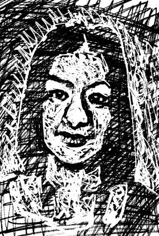 尾野真千子の似顔絵イラスト  画像