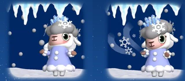 天気情報「雪」のメイドのメイちゃん