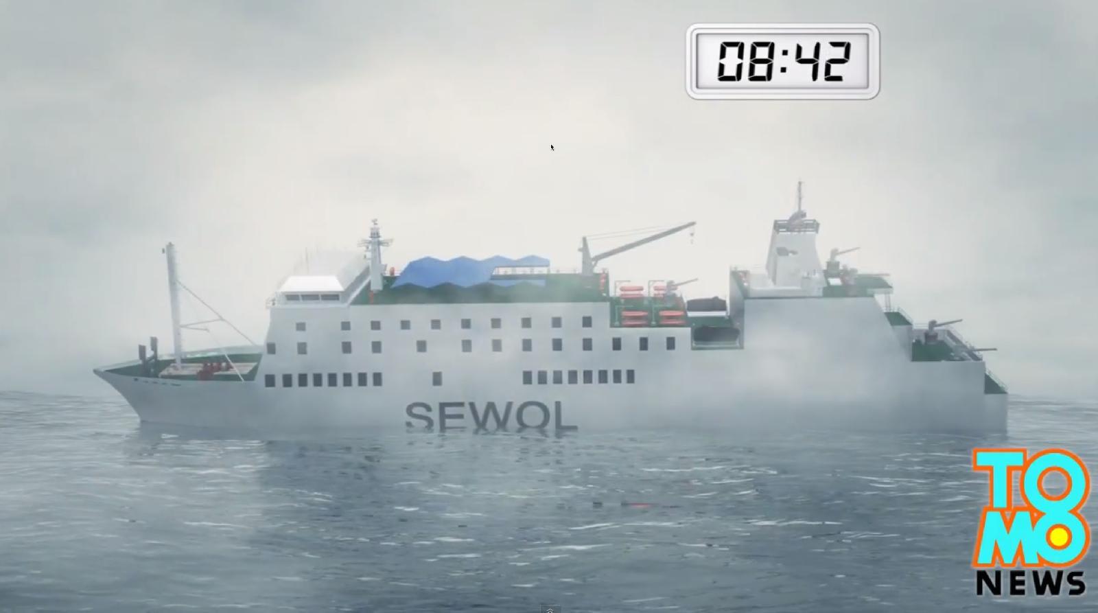 Sewol号の沈没状況解説 Â�ニメ動画 Memories On The Sea Ƶ�の記録