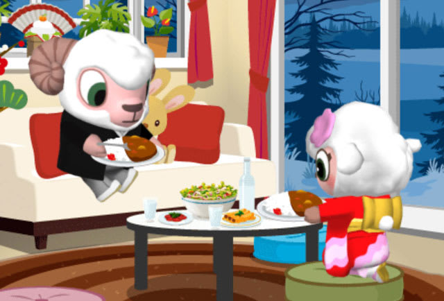 おせちに飽きてカレーを食べる兄妹