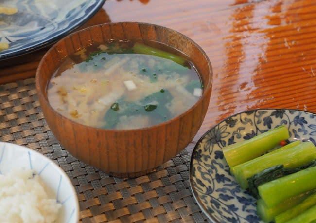 味噌汁と野沢菜
