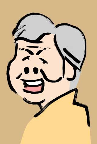 柳家喬太郎の似顔絵