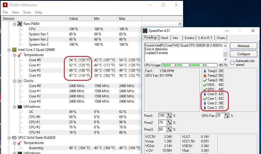 CPU温度を、3つのソフトで比較測定してみたら、面白い結果がでました。 - 私のPC自作部屋