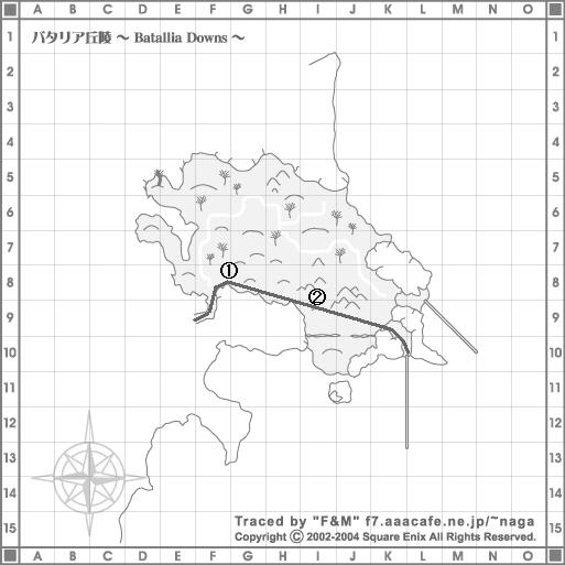 バタリア丘陵地図