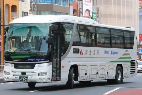 富士急シティバスの新車 1702号...