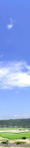 blue sly 富山の7月の青空