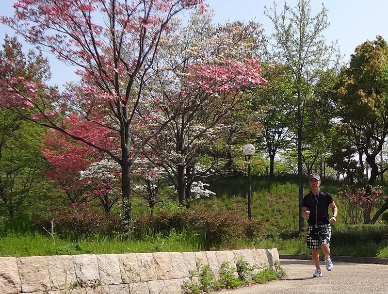 Jackie_jogging_with_dogwood_trees_f