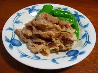 豚肉の時雨煮と甘唐辛子の甘酢漬け
